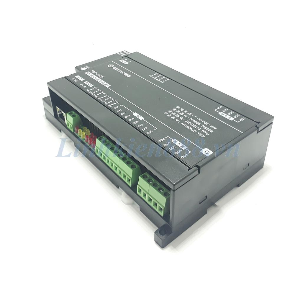 Module PLC 8DO relay 8DI cổng ra RS485 và Ethernet modbus RTU