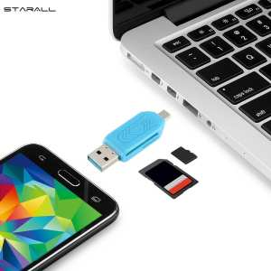 Hình thu nhỏ StarALL USB 3.0 SD/Micro SD TF OTG Micro USB Smart Memory Card Adapter for Laptop Android Phones