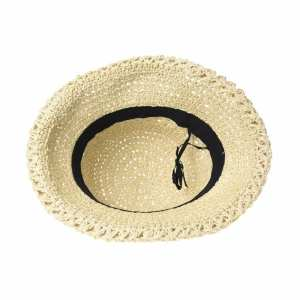 Hình thu nhỏ sản phẩm WITHMOONS Women Flanging Straw Sun Hat Summer Bowler Beach Cap Roll Up Brim CR9981