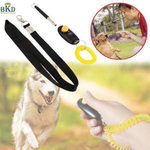 Hình ảnh Ultrasound Dog Training Whistle Kit With Rope&Clicker Black+Yellow 48cm