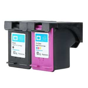 UINN Non-OEM Ink Cartridge for HP 63 XL for HP 63 Officejet 2620 for ENVY 4500 1pc black and 1pc tri-color