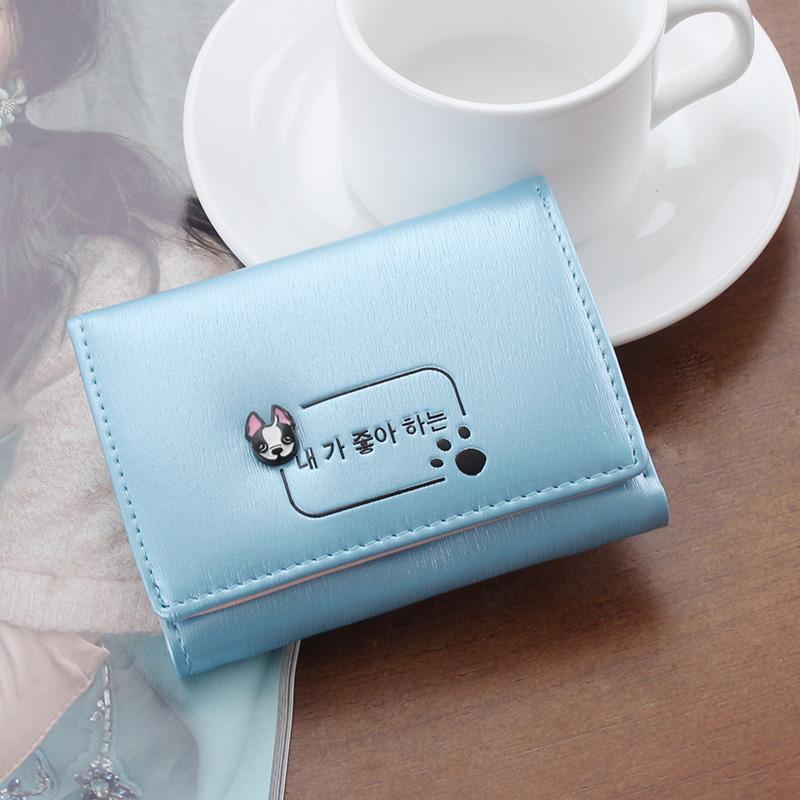 APP BLOG ขนาดเล็กกระเป๋าสตางค์หญิงสั้นนางสาว Kuan กระเป๋าสตางค์บางเล็กเปลี่ยนห่อมินิการ์ดหญิงนักเรียน Han Ban เพื่อห่อกระเป๋าสตางค์