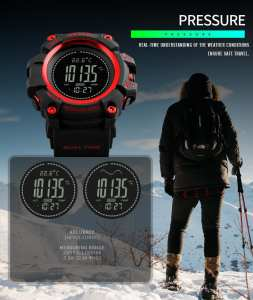 Hình thu nhỏ sản phẩm SKMEI Brand Watch Mens Sports Hours Pedometer Calories Digital Altimeter Barometer Compass Thermometer Weather 1358 - intl