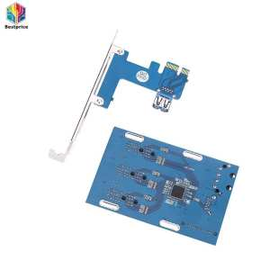 PCIe 1 3 PCI Expansion Card Riser Connector Cable Slots Adapter Port Kit Mini