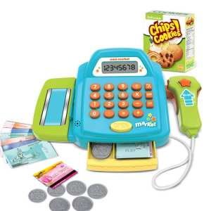 Hình ảnh Kids Children Supermarket Cashier Cash Register Kitchen Groceries Toys Pretend Play Shopping Early Educational - intl