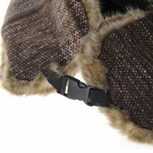 Hình thu nhỏ sản phẩm WITHMOONS Tartan Check Ear Flap Cap Winter Hat Trooper Faux Fur SL7524