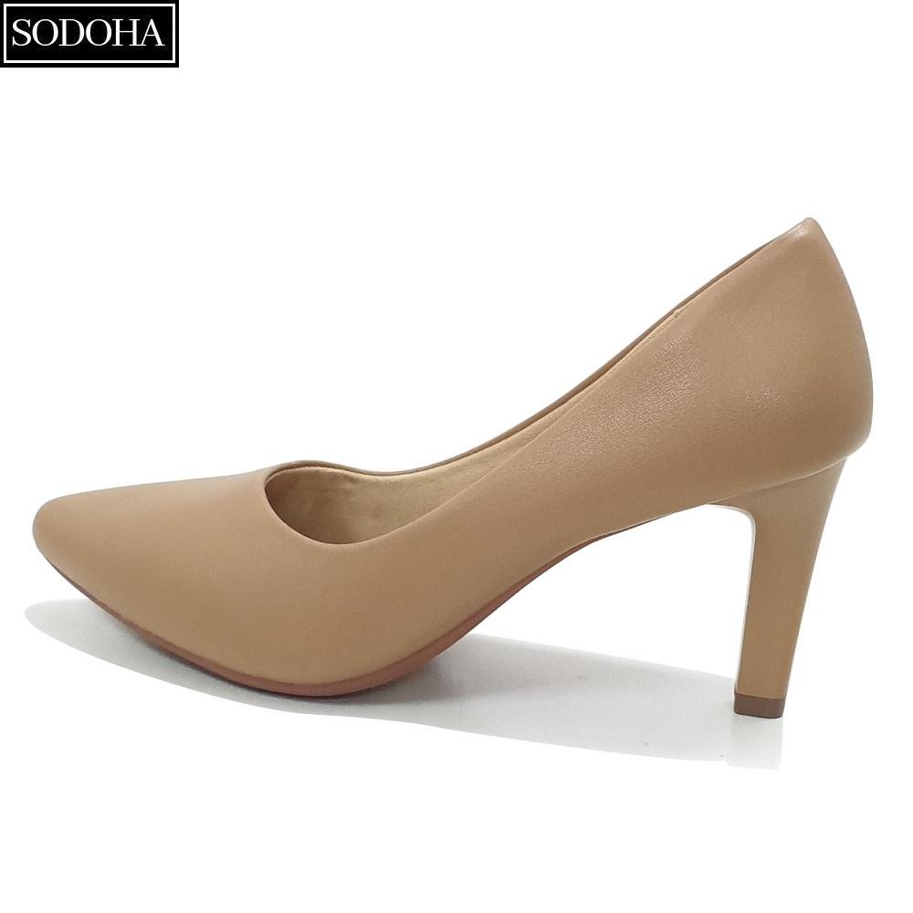 Giày cao gót nữ SODOHA đế cao 7cm thiết kế da mềm đế êm kiểu dáng trẻ trung hiện đại SDH-339