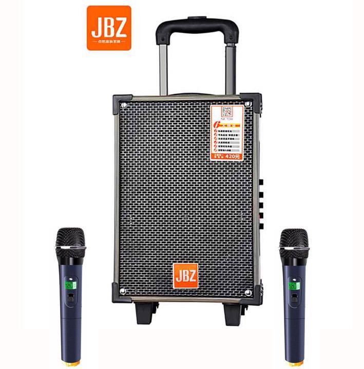 Loa vali kẹo kéo karaoke bluetooth temeisheng jb108 tặng 2 micro