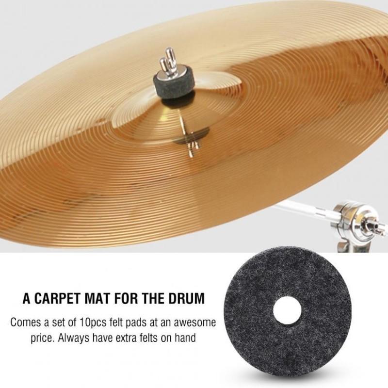 10pcs Jazz Drum Cymbal Felt Pads Musical Instrument Accessories - intl
