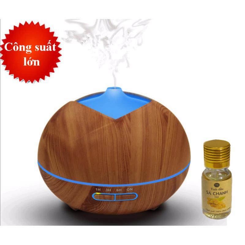 Bảng giá Máy khuếch tán tinh dầu búp vàng dung tích 300ml có chế độ hẹn giờ phun tầm 7-8 tiếng Tặng 10ml tinh dầu sả chanh Ngọc Tuyết