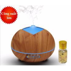 Bảng giá Máy khuếch tán tinh dầu búp vàng dùng khử mùi dung tích 300ml có chế độ hẹn giờ phun tầm 7-8 tiếng  tặng 10ml tinh dầu oải hương Ngọc Tuyết