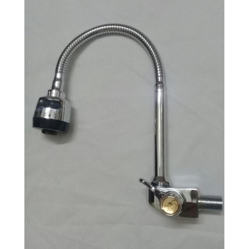vòi rửa chén lạnh cắm tường cần lò xo tay gạt -star,tặng 1 dây cấp nước