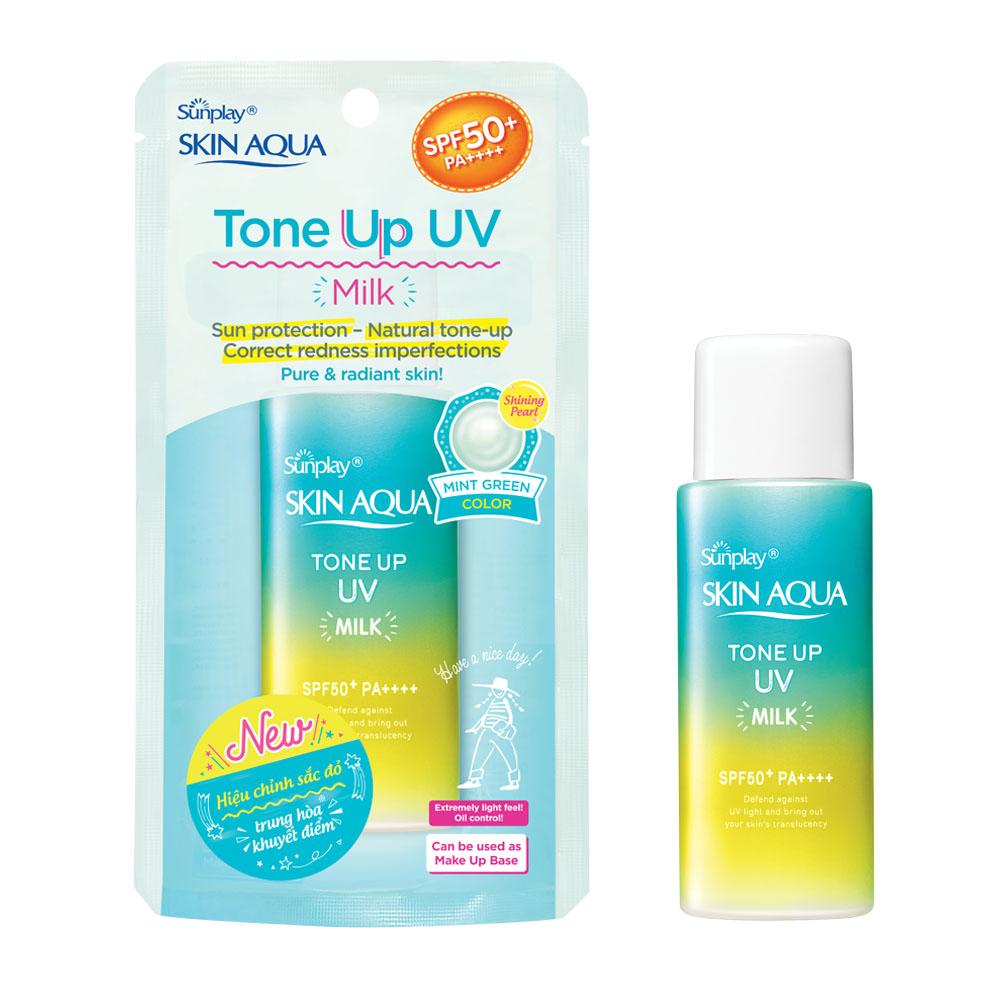 Sữa Chống Nắng Skin Aqua Tone Up UV Milk SPF50+ PA++++ Hiệu...