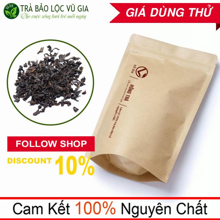 Hồng Trà ( Trà Đen ) Nguyên Chất Bảo Lộc Vũ Gia (50gr/túi) - Thanh nhiệt cơ thể, hỗ trợ giảm cân, làm nguyên liệu trà sữa trân châu đường đen, trà sữa tự pha, trà sữa thái xanh an toàn - Đã được kiểm nghiệm y tế