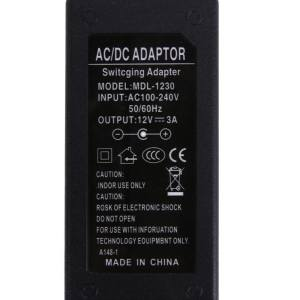 12V 3A AC to DC Power Adapter Dual Cable Converter Universal 5.5x2.1-2.5mm(Black)-US - intl