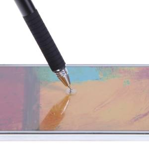 Hình ảnh 2 in1 Silica Gel Capacitive Touch Screen Pen For iPhone iPad(Black) - intl