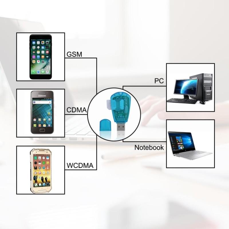 Bảng giá 2pcs USB SIM card reader and writer SIM card reader with disc transparent blue USB Port - intl Phong Vũ