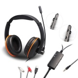 5 in 1 Stereo wired Gaming Headset Earphone Headphones with Microphone for PS4/PS3/XBOX 360/XBOX ONE/PC - intl