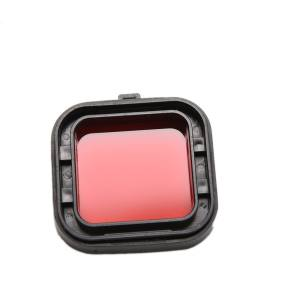 Hình thu nhỏ sản phẩm Amango Underwater Sea Diving Snap on Red Lens Filter for GoPro Hero 3+ 4 Housing Case - intl