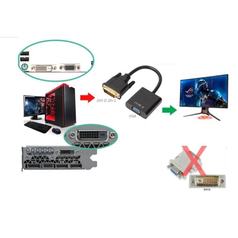 Bảng giá Cáp chuyển đổi DVI-D 24+1 sang màn hình LCD, máy chiếu có VGA,DVI TO VGA 24+1 Phong Vũ