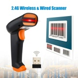Hình thu nhỏ Chunzao UeeVii Wireless 2.4G Barcode Scanner Bar Code Reader Rechargeable+Soft Case For Win PC - intl