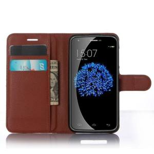 Flip Leather Case Built In Card Slot For Doogee Y100 Pro Brown - intl