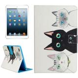 Hình thu nhỏ For iPad mini 4 / mini 3 / mini 2 / mini Three Cats Pattern Universal Horizontal Flip Leather Case with Holder and Card Slots and Wallet - intl