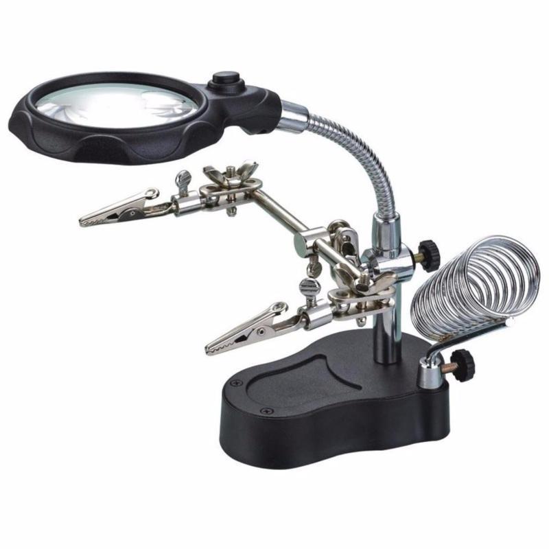 Bảng giá Kính lúp soi kẹp hàn mạch điện tử có đèn led(Đen) Phong Vũ