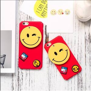 OPPO A59/F1s Cellphone Case, Smiling Face Cover Hiding Mirror, Hard PC Phone