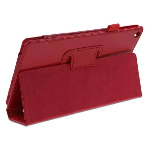Hình thu nhỏ PU Leather Skin Smart Cover for Amazon Kindle Fire HD 8 2017 4th Gen Stand Case (Red) - intl