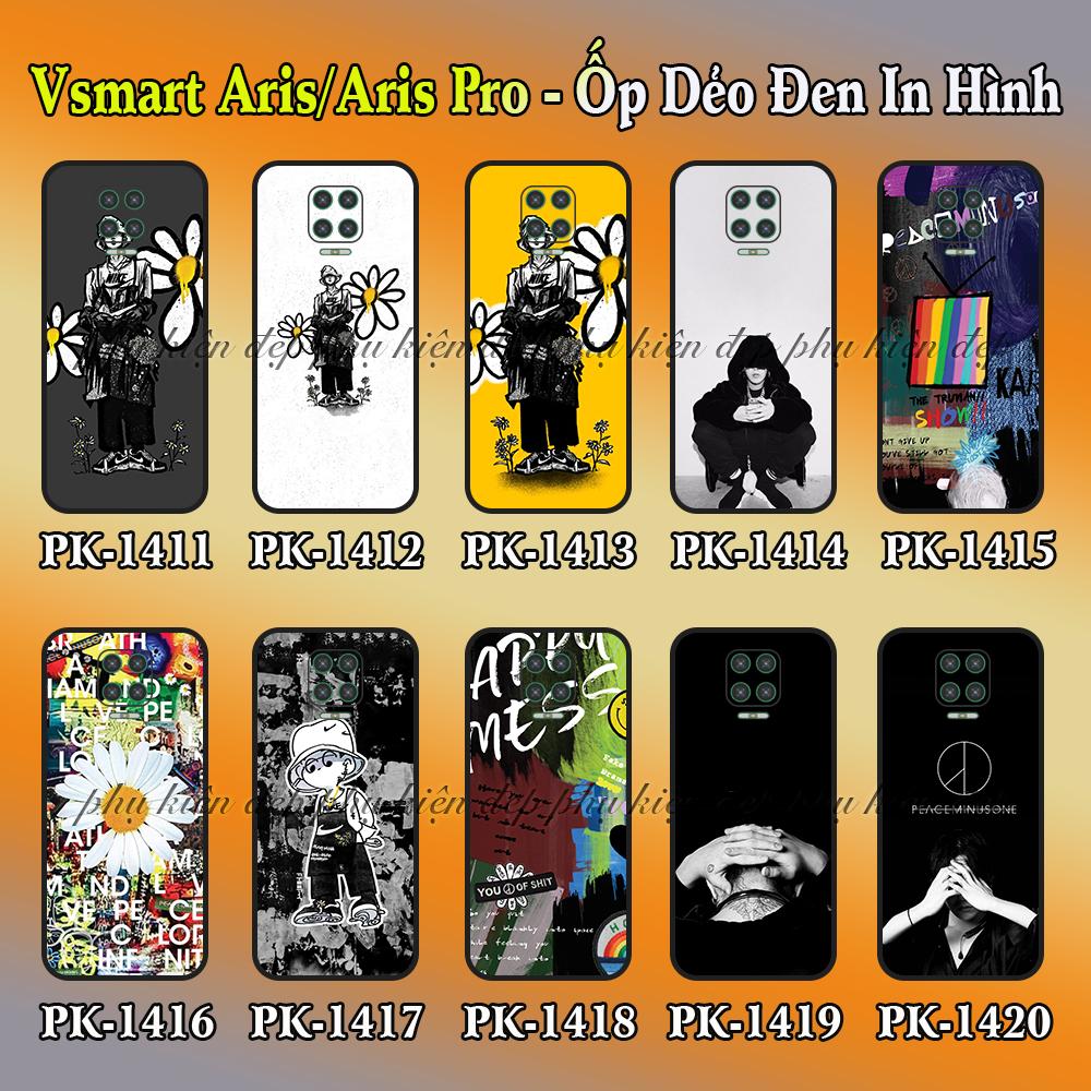Ốp lưng Vsmart Aris/ Aris Pro dẻo đen in hình Hoa Cúc G-Dragon