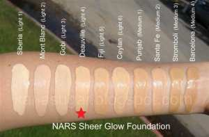 KEM NỀN NARS SHEER GLOW FOUNDATION- LIGHT 4 DEAUVILLE ( BILL ANH)