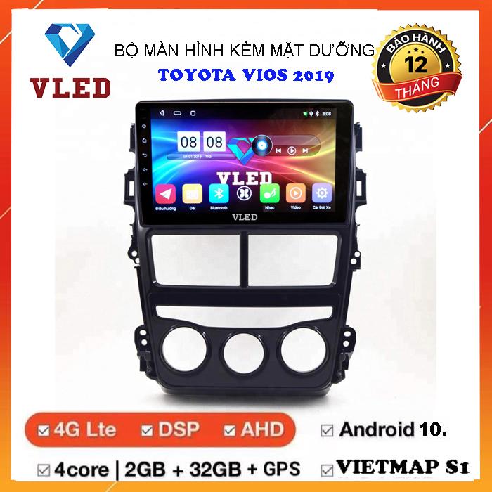 Màn hình android cho xe TOYOTA VIOS 2019, màn hình VLED mới nhất hiện nay, android 10. cấu hình cực cao, chất lượng tốt, giá cả hợp lý, hỗ trợ camera lùi, camera hành trình, camera 360, hỗ trợ ngôn ngữ tiếng việt