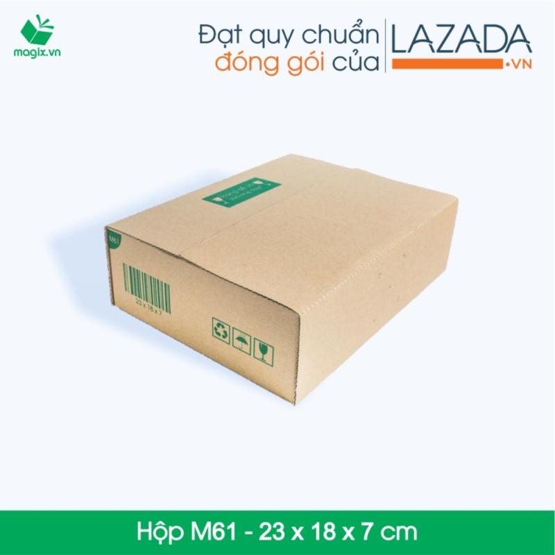 100 Thùng (Hộp) carton - Mã HN_M61 - Kích thước 23*18*7 (cm)