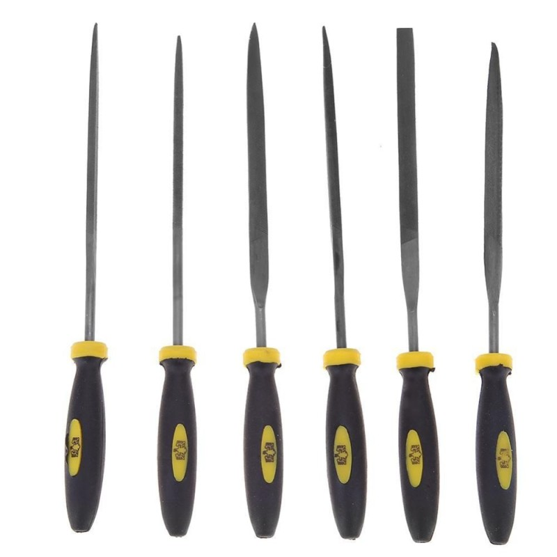 6pcs DIY Wood Metal Assorted Glass Carving Tool Set Hand Pottery Sculpting Tool - intl
