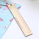 Hình thu nhỏ Creative Stationery Wooden Crown Pattern Office School Student Measuring Tools Stationery Ruler - intl
