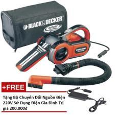 Máy hút bụi cầm tay xe hơi - Black&Decker PAV1205 (Tặng bộ chuyển đổi nguồn điện 220V)