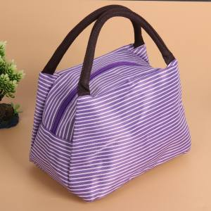 Multifunctional Portable Lunch Bag Organizer Holder Container Purple - intl