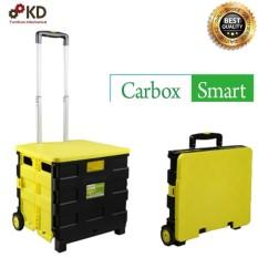 Xe kéo chở hàng GẤP GỌN đi siêu thị đi du lịch dung tích 34L Carbox smart (vàng)
