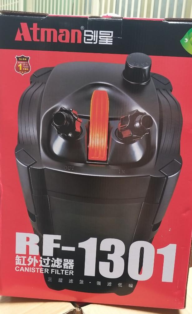 Lọc thùng Atman RF-1301 công suất 22W đời mới nhất thay thế cho dòng Atman DF-1300 dành cho hồ thủy sinh từ 100L - 200L, BẢO HÀNH 6 THÁNG