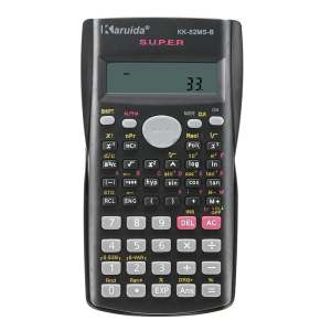 Hình thu nhỏ sản phẩm 82MS-A Portable Multifunctional Calculator for Mathematics Teaching - intl(Black)