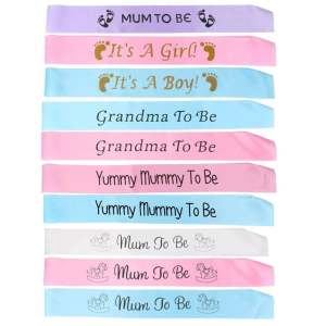 Hình ảnh BABY SHOWER PARTY Satin Sash New Mum To Be Pink - intl