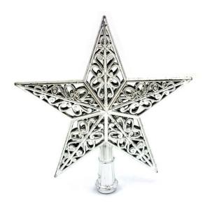 Christmas Tree Star Topper Ornament Party Decoration Xmas Decorations Stars Silver - intl