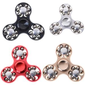 Metal Tri Fidget Hand Spinner Triangle Brass Finger Toy Edc Focus Adhd Gift Black - intl