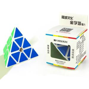 Hình thu nhỏ sản phẩm Brain Teaser Puzzle Cube Pyraminx Stickerless Pyramid Speed Cube for Magic Cubes Beginners Puzzle Enthusiasts Specification:Fluorescent fo