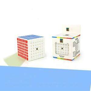 Hình thu nhỏ sản phẩm Star Mall Professional 7x7 Stickerless Brain Teaser Twisty Puzzle Competition Magic Speed Cube White