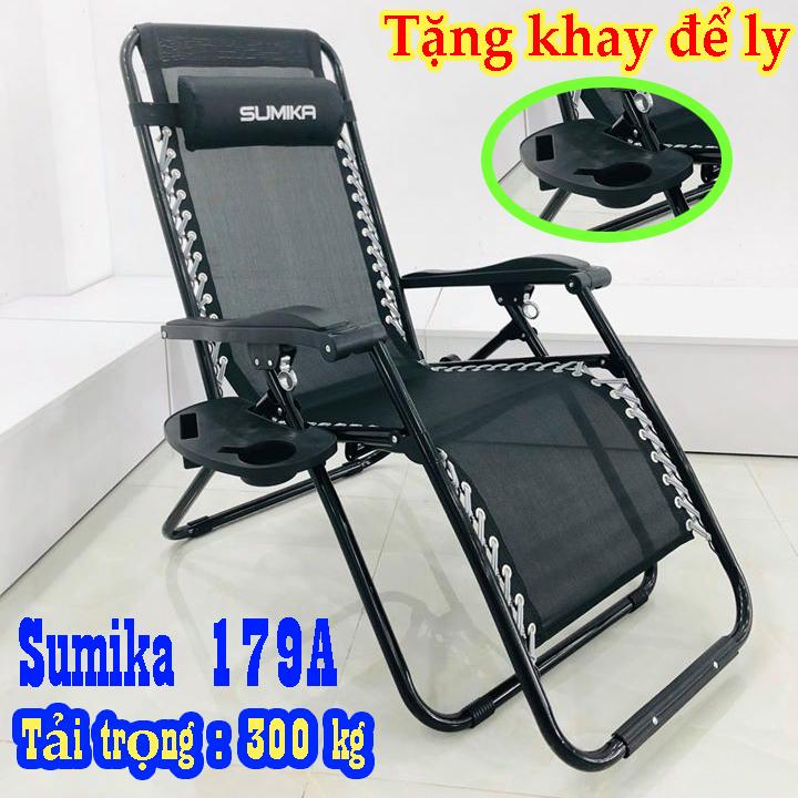 Ghế xếp thư giãn Sumika 179A NEW nhập khẩu 100% tiêu chuẩn Châu Âu thiết kệ gọn nhẹ thông minh tiện lợi