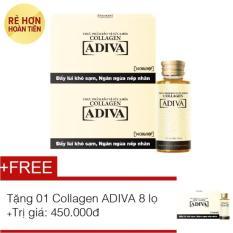 Bộ 2 hộp Tinh chất làm đẹp ADIVA Collagen dạng nước 14 chai x 30ml + Tặng 1 Hộp ADIVA Collagen 8 chai x 30ml trị giá 450.000đ