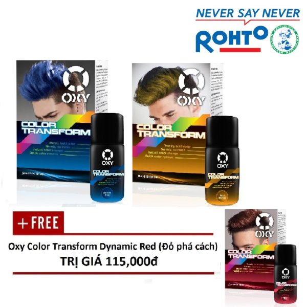 Sành điệu mùa lễ hội (2 Oxy Color Transform Blue & Blonde) (+ Tặng 1 Oxy Color Transform Red)