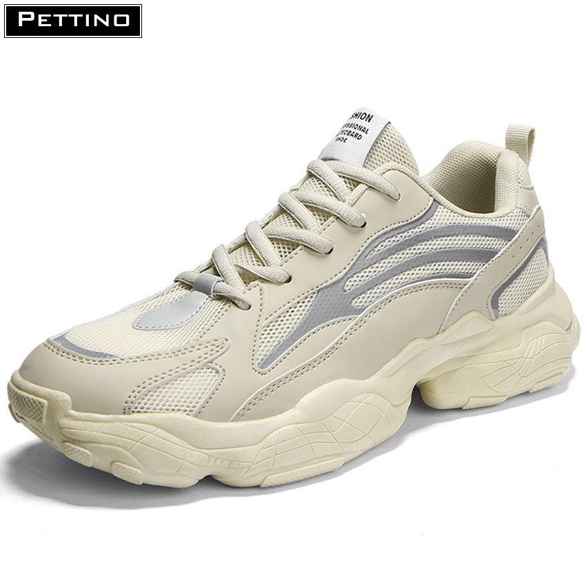 Giày phản quang nam, giày đế độn, giày tăng chiều cao, giày thể thao phát sáng thời trang, thoáng nhẹ PETTINO – LLTS03 (tặng tất màu ngẫu nhiên đen hoặc xám)